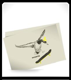 Carte postale Duckster