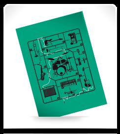 Carte postale Kit musique