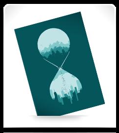Carte postale Le temps perdu
