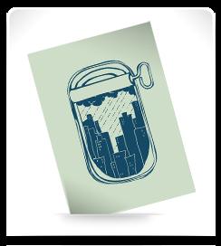 Carte postale Sardine