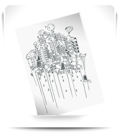 Carte postale Les pentes 1