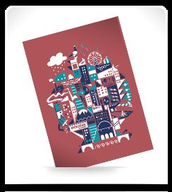 Carte postale Les pentes 2