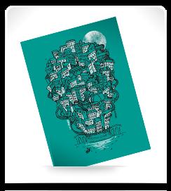 Carte postale Les pentes 3