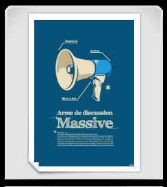 Affiche Arme de discution massive