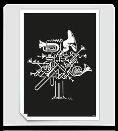 Affiche Fanfare Noir