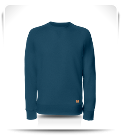 Sweat col rond bleu