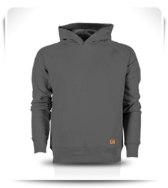 Sweat capuche gris moyen