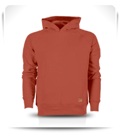 Sweat capuche orange ochre