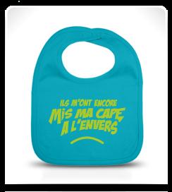 Bavoir Super Héros turquoise et jaune