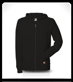 Veste capuche zippé noir