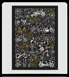 Affiche 1001 Vélos noir