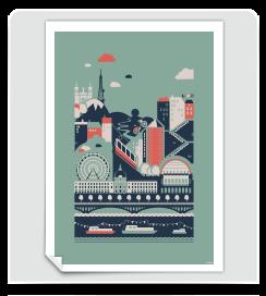 Affiche Lyon amande