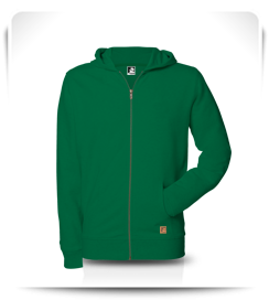 Veste capuche zippé vert amazone