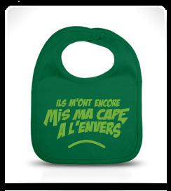 Bavoir Super Héros vert amazone et vert clair