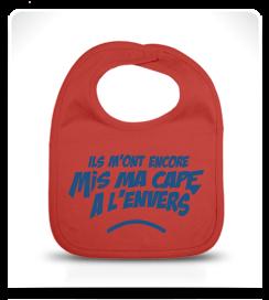 Bavoir Super Héros rouge et bleu