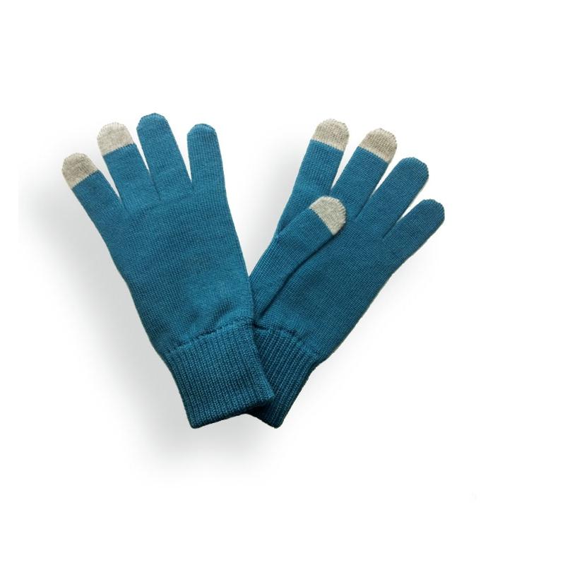 Gants femme Bleu Canard. Gants tactiles Laspid made in France ... be338ce6999