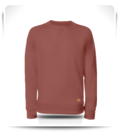 Sweat col rond rose vieilli