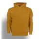 Sweat capuche jaune moutarde