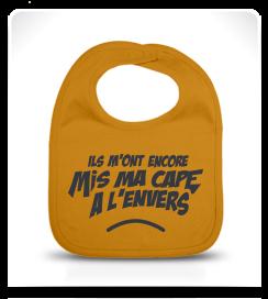 Bavoir Super Héros jaune moutarde