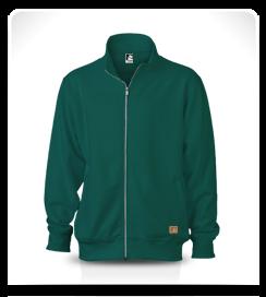 Veste zippée vert colvert