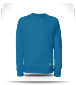 Sweat col rond Mediterranian Blue