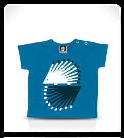 T-shirt bébé Hérisson bleu