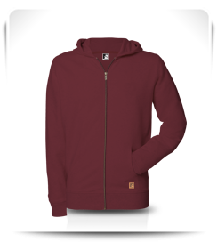 Veste capuche zip Pomegranate