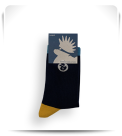 Chaussettes Laspid bleu foncé