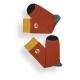 Chaussettes Laspid rouge brique
