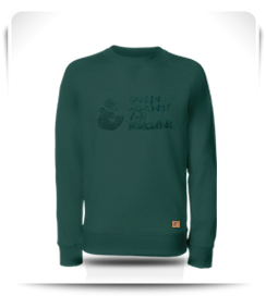 Sweat col rond GATM Duck Green