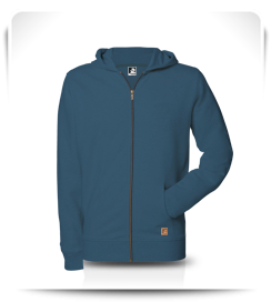 Veste capuche zip Moroccan Blue
